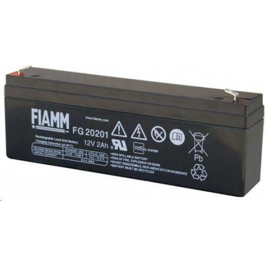 Baterie - Fiamm FG20201 (12V/2,0Ah - Faston 187), životnost 5let