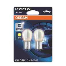 OSRAM autožárovka PY21W Diadem Chrome 12V 21W BAU15S oranžová (Blistr 2ks)
