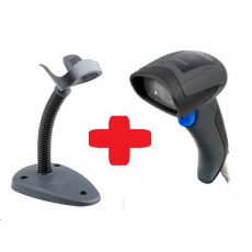 DataLogic QuickScan QD2430, čtečka 2D kódu, stojánek, black, USB kabel