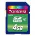 TRANSCEND SDHC karta 4GB Class 4