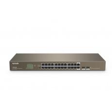Tenda TEG1024F - 22-port Gigabit Ethernet Switch + 2x Combo SFP/RJ45, 10/100/1000 Mbps, Fanless, Rackmount, Kov