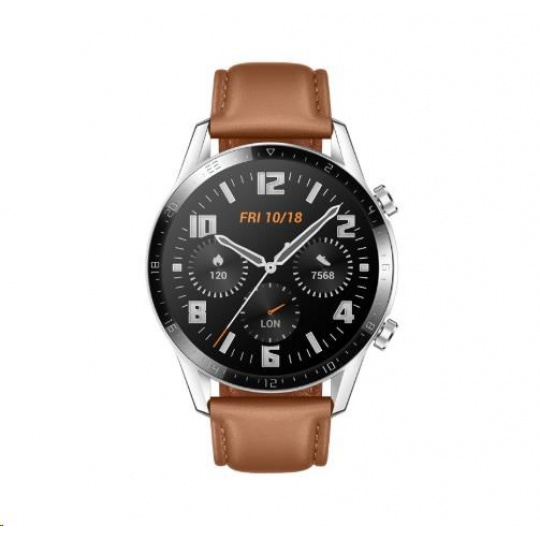 Huawei Watch GT 2, 46 mm, hnědá