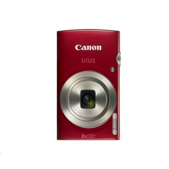 Canon IXUS 185, 20MPix, 8x zoom - červený