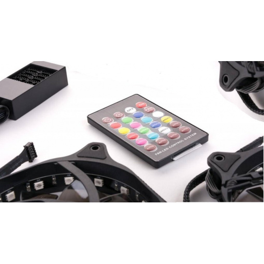 1stCOOL Fan KIT2, 3*RAINBOW RGB Fan 12cm + Driver + Remote Control