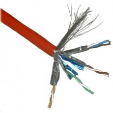 FTP TWIN kabel PlanetElite, Cat6A, drát, 4pár LS0H, Dca, oranžový, 100m