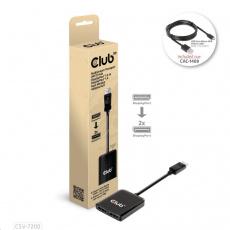 Club3D hub MST USB-C na DisplayPort, 4K60Hz (M/F)